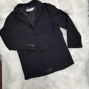 H&M Black Boys Blazer Front Buttons Pocket Sz 5-6
